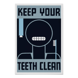 Keep Your Teeth Clean -- WPA Poster