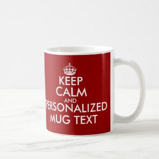KeepCalm attaque le modèle de | Personalizable Mug Blanc