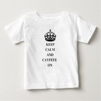 KEEPCALMANDCAVFEFE ON (1) BABY T-Shirt