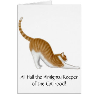Keeper of the Cat Food Card