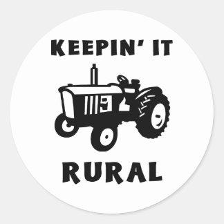 Keepin It Rural Round Sticker