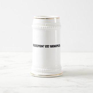 Keepin' It Simple Beer Stein