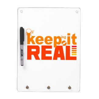 Keeping It Real custom message board Dry Erase Board