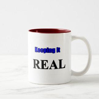 Keeping it Real Two-Tone Coffee Mug