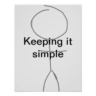 keeping it simple postar poster