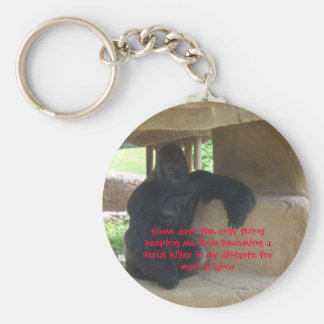 Keeping me from becoming a serial killer basic round button keychain