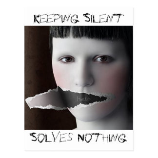 Keeping Silent, Solves Nothing Postcard