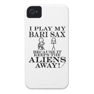 Keeps Aliens Away Bari Sax iPhone 4 Cover