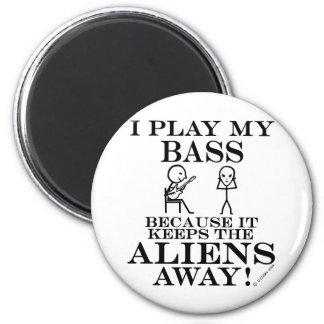 Keeps Aliens Away Bass Magnet