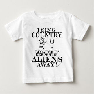 Keeps Aliens Away Country Baby T-Shirt
