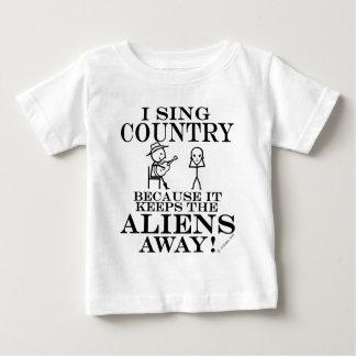 Keeps Aliens Away Country Tshirt