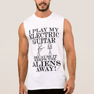 Keeps Aliens Away Electric Guitar Sleeveless Shirt