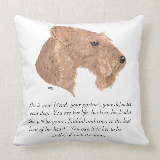 Keepsake, Female Dog Throw Pillow