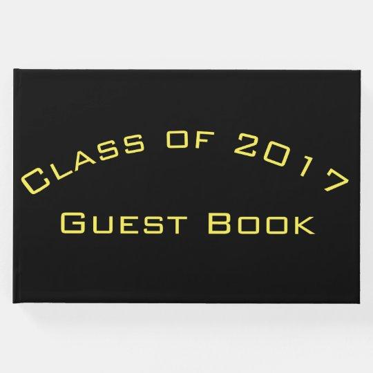 Keepsake Graduation Guest Book your school colours