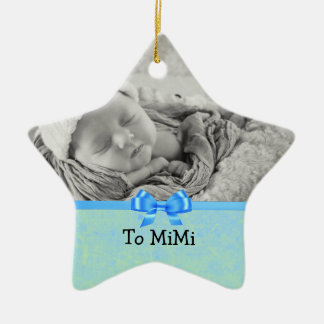 Keepsake Ornament for Baby Boy to Mimi