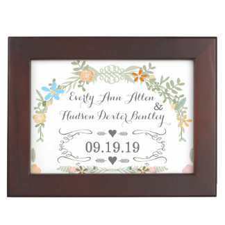 Keepsake Wedding Date Anniversary Box