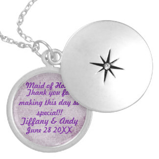 Keepsake wedding locket