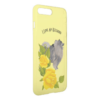 Keeshond and Yellow Roses iPhone 8 Plus/7 Plus Case