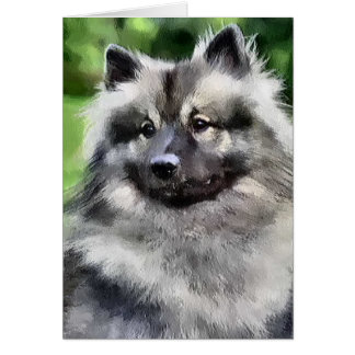 Keeshond Art Gifts Card