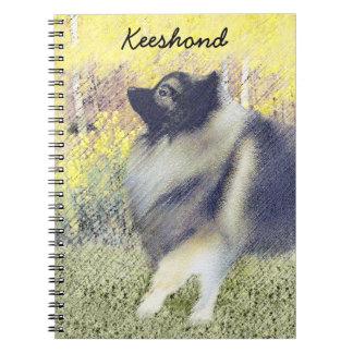 Keeshond Aspen Painting - Cute Original Dog Art Notebook