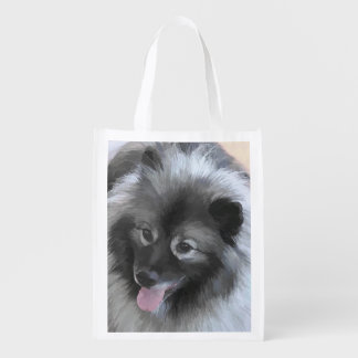 Keeshond (Bailey) Reusable Grocery Bag