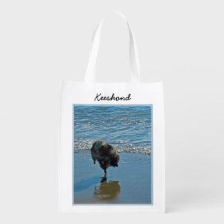 Keeshond Ballet Photograph - Cute Original Dog Art Reusable Grocery Bag