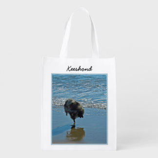 Keeshond Ballet Reusable Grocery Bag