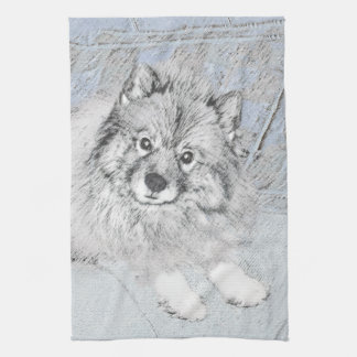 Keeshond (Beth) Kitchen Towel