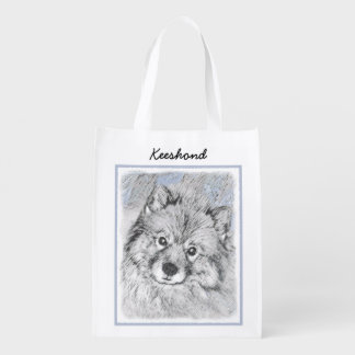 Keeshond (Beth) Reusable Grocery Bag
