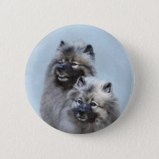 Keeshond Brothers 2 Inch Round Button