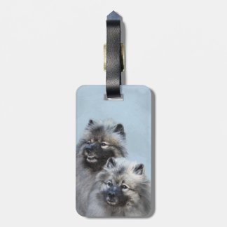 Keeshond Brothers Luggage Tag