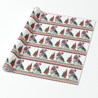 Keeshond Christmas Wrapping Paper