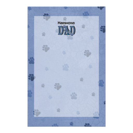 Keeshond DAD Stationery Design