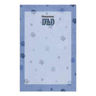 Keeshond DAD Stationery Paper