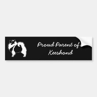 Keeshond Graphics  - Cute Original Dog Art Bumper Sticker