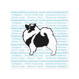Keeshond Graphics  - Cute Original Dog Art Canvas Print