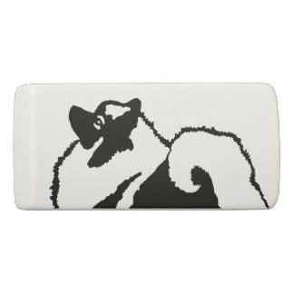 Keeshond Graphics  - Cute Original Dog Art Eraser