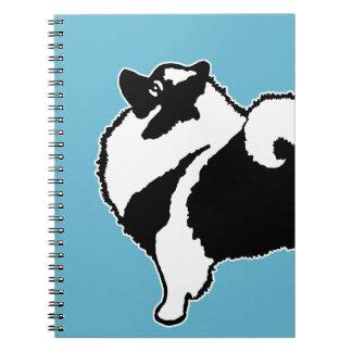 Keeshond Graphics  - Cute Original Dog Art Notebook