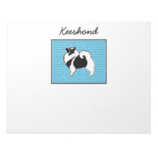 Keeshond Graphics  - Cute Original Dog Art Notepad