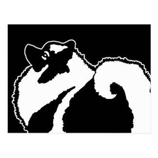 Keeshond Graphics  - Cute Original Dog Art Postcard