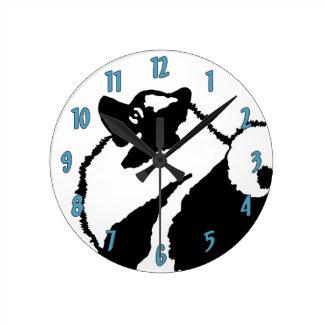 Keeshond Graphics  - Cute Original Dog Art Round Clock