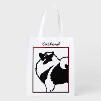 Keeshond Graphics Reusable Grocery Bag