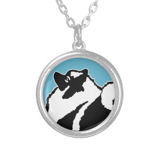 Keeshond Graphics Silver Plated Necklace