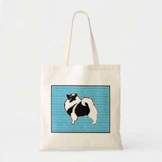 Keeshond Graphics with Word Tote Bag