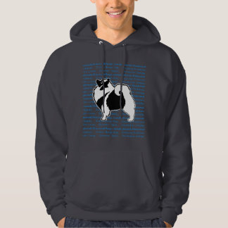 Keeshond Graphics with Words Hoodie