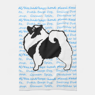 Keeshond Graphics with Words Kitchen Towel