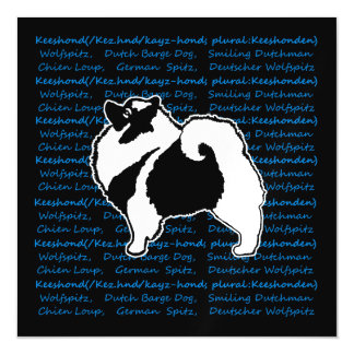 Keeshond Graphics with Words Magnetic Card