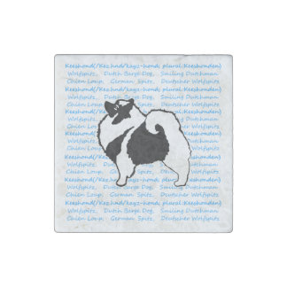 Keeshond Graphics with Words Stone Magnets