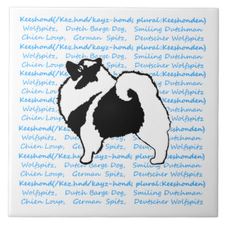 Keeshond Graphics with Words Tiles
