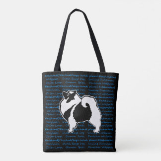 Keeshond Graphics with Words Tote Bag